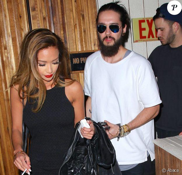 Tom Kaulitz et Ria Sommerfeld à la sortie de The Nice Guy, à Los Angeles, le 2 avril 2016