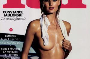 Constance Jablonski topless pour