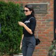 Kendall Jenner quitte The Bowery Hotel à New York. Le 29 septembre 2016.
