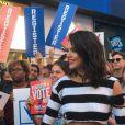 "Kendall Jenner dans ""Total Registration Live"" à Times Square. New York, le 27 septembre 2016."