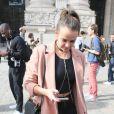 Pauline Ducruet à la sortie du Grand Palais après le défilé de mode Mugler, collection prêt-à-porter Printemps-Eté 2017, lors de la Fashion Week à Paris, le 1er octobre 2016. © CVS/Veeren/Bestimage
