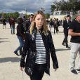 La princesse Alexandra de Hanovre, fille de la princesse Caroline, au Jardin des Tuileries à Paris le 1er octobre 2016 pour le défilé Elie Saab dans le cadre de la Fashion Week printemps-été 2017.