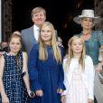 Le roi Willem-Alexander des Pays-Bas s'est rendu en famille au baptême de son filleul le prince Carlos de Parme, le 25 septembre 2016 à Parme.