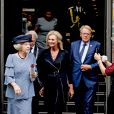 "La princesse Beatrix des Pays-Bas au centre de conférence ""Nieuwspoort"" à l'occasion du 30ème anniversaire de ""CoMensha"" à La Haye. Le 22 septembre 2016  Princess Beatrix of the Netherlands leaving the Nieuwspoort Hague conference on the occasion of the 30th anniversary of CoMensha in Den Haag on September 22, 2016 The national Human Trafficking Coordination Centre stands at the congress reflect on what has been achieved and what are the challenges in the coming period22/09/2016 - La Haye"