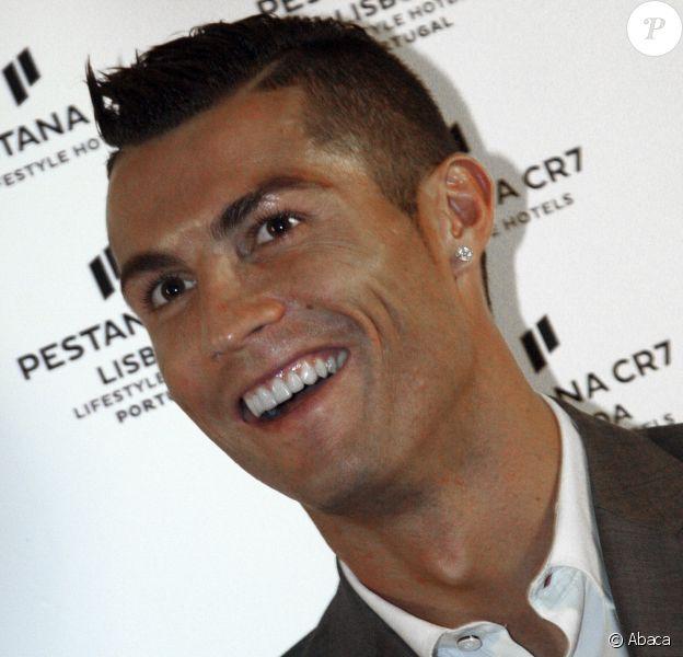 Cristiano Ronaldo lors de l'inauguration de son hôtel Pestana CR7 à Lisbonne le 2 octobre 2016.