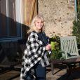 Exclusif -Mylène Demongeot a fêté son 81ème anniversaire en compagnie de Henry-Jean Servat, de la chanteuse Irène Roussel et de ses amis du Refuge de l'Arche, dans sa ferme en Mayenne, à Châtelain. Le 1er octobre 2016.