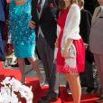 Le prince Gundakar et son altesse royale la princesse Marie du Liechtenstein au mariage du prince Leka II d'Albanie et d'Elia Zaharia à Tirana (Albanie), le 8 octobre 2016