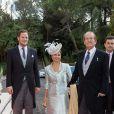 Le duc et la duchesse de Braganza, Portugal au mariage du prince Leka II d'Albanie et d'Elia Zaharia à Tirana (Albanie), le 8 octobre 2016