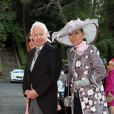 Le prince Philip et la princesse Isabelle du Liechtenstein au mariage du prince Leka II d'Albanie et d'Elia Zaharia à Tirana (Albanie), le 8 octobre 2016
