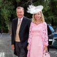 La princesse Camilla de Bourbon-Deux-Siciles, duchesse de Castro et le prince Carlo de Bourbon-Deux-Siciles, duc de Castro au mariage du prince Leka II d'Albanie et d'Elia Zaharia à Tirana (Albanie), le 8 octobre 2016