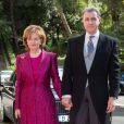 La princesse Margareta et le prince de Roumanie Radu au mariage du prince Leka II d'Albanie et d'Elia Zaharia à Tirana (Albanie), le 8 octobre 2016