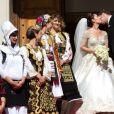 Le mariage du prince Leka II d'Albanie et d'Elia Zaharia à Tirana (Albanie), le 8 octobre 2016