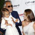 Andre Bocelli, sa fille Virginia et la princesse Madeleine de Suède au gala de la fondation pour l'enfance (Childhood Foundation Gala) au restaurant Cipriani à New York le 16 septembre 2016.