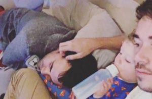 Alex Goude : Au repos avec son mari et son fils, une photo touchante
