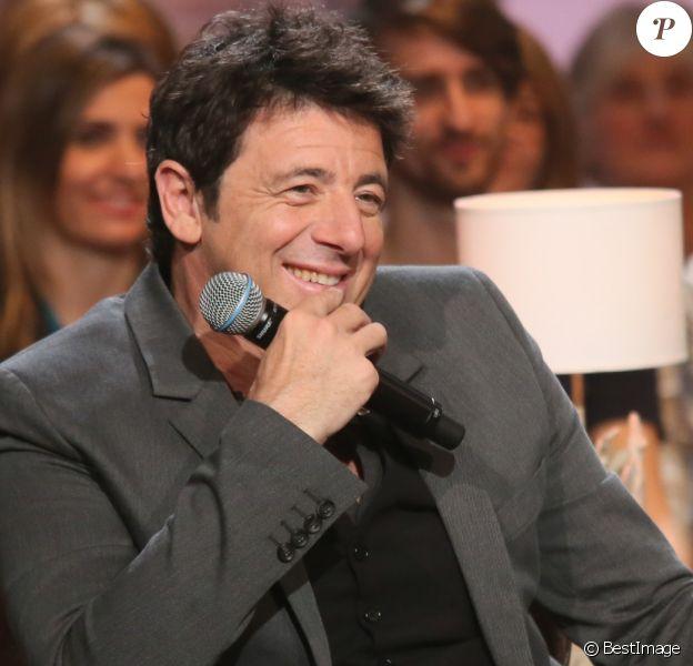 """Patrick Bruel lors de l'enregistrement de l'émission """"Du côté de chez Dave"""" à Paris, diffusée le 28 février 2016 sur France 3."""