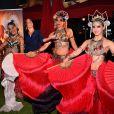 """Vahina Giocante avec des danseuses - Soirée de lancement de la série """"Mata Hari"""" produite par Star Media en partenariat avec Channel One Russia et Inter Ukraine, au MIPCOM 2016 à Cannes le 16 octobre 2016. © Bruno Bebert/Bestimage"""