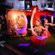 """Des danseuses rendent hommage à Mata Hari - Soirée de lancement de la série """"Mata Hari"""" produite par Star Media en partenariat avec Channel One Russia et Inter Ukraine, au MIPCOM 2016 à Cannes le 16 octobre 2016. © Bruno Bebert/Bestimage"""