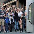 Lady Gaga pose pour ses fans à New York le 16 Novembre 2016.