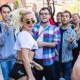 Lady Gaga à la sortie des studios de la radio Z100 après l'émission d'Elvis Duran à New York, le 12 septembre 2016.