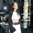 "Rihanna présente sa collection ""Fenty x Puma"" dans le pop-up store du magasin Bergdorf Goodman à New York, le 6 septembre 2016."