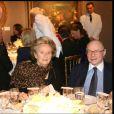 Bernadette Chirac et Alain Pompidou lors d'un dîner en l'honneur de la princesse de Beauvau Craon à Paris en mars 2010