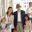 Woody Allen et sa femme avec leurs enfants : Bechet et Manzie Tio