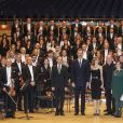 Felipe VI et Letizia d'Espagne assistaient le 20 octobre 2016 au concert précédant la remise des Prix Princesse des Asturies, à Oviedo.