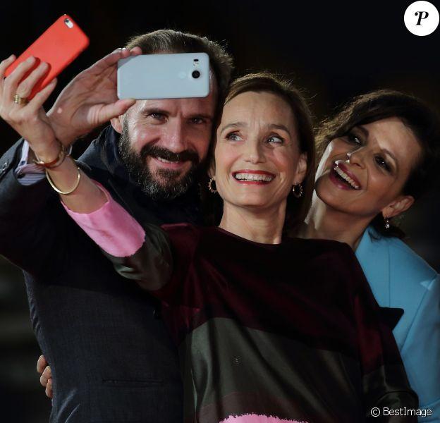 """Ralph Fiennes, Kristin Scott Thomas et Juliette Binoche - Projection du film ''Le Patient Anglais"""" lors du Festival du Film à Rome, Italie, le 22 octobre 2016. © Evandro Inetti/Zuma Press/Bestimage"""
