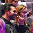 Maxim Nucci (Yodelice) et Isabelle Ithurburu ensemble lors de la cérémonie des Sportel Awards, au Grimaldi Forum à Monaco le 25 octobre 2016. La journaliste de Canal+ faisait partie du Jury du Prix de la Publicité lors de cet événement qui récompense les plus belles vidéos de sport et les plus beaux ouvrages illustrés sur le sport, à Monaco, le 25 octobre 2016. © Bruno Bebert/Bestimage