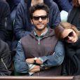Maxim Nucci (Yodelice) et Isabelle Ithurburu dans les tribunes des Internationaux de France de tennis de Roland-Garros à Paris. Le 24 mai 2016 © Dominique Jacovides / Bestimage