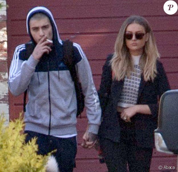 Perrie Edwards et Zayn Malik quittent le domicile du père de la chanteuse à Newcastle, le 10 juin 2015