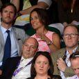 Pippa Middleton et James Matthews, quelques jours avant l'annonce de leurs fiançailles, à Wimbledon le 6 juillet 2016.