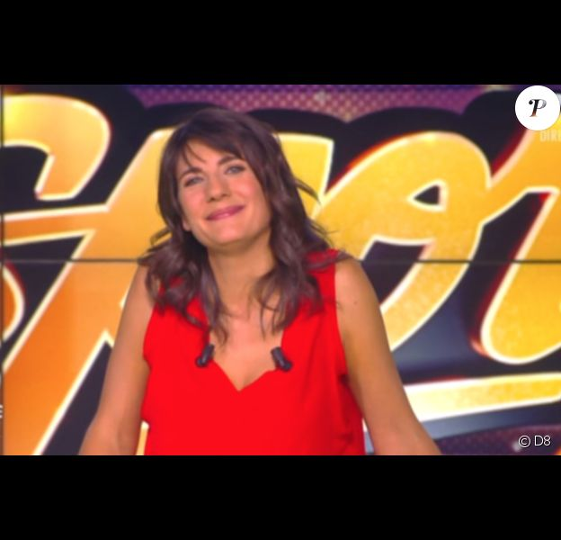 """Estelle Denis à la présentation de """"Touche pas à mon sport"""" sur C8."""