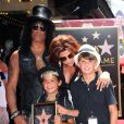SLASH (SAUL HUDSON) ET SA FEMME PERLA FERRAR ET LEURS ENFANTS LONDON EMILIO ET CASH ANTHONY - SLASH (SAUL HUDSON) RECOIT SON ETOILE SUR LE WALK OF FAME A HOLLYWOOD.  British-American musician and songwriter Slash (Saul Hudson) is honored with a Star on the Hollywood Walk of Fame in Hollywood, California on July 10, 201210/07/2012 - HOLLYWOOD
