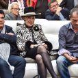 Exclusif - Dominique Damien Rehel, Geneviève de Fontenay, Jean-Philippe Muley (organisateur de la foire) - Concours de créateurs de mode à la foire expo de Cherbourg-en-Cotentin sur le thème de l'Irlande dans la Grande Halle de La Cité de la Mer à Cherbourg-en-Cotentin, France, le 31 octobre 2016.