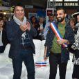 Exclusif - Dominique Damien Rehel, Fahaid Sanober (créateur), Geneviève de Fontenay - Concours de créateurs de mode à la foire expo de Cherbourg-en-Cotentin sur le thème de l'Irlande dans la Grande Halle de La Cité de la Mer à Cherbourg-en-Cotentin, France, le 31 octobre 2016.