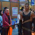 Exclusif - Concours de créateurs de mode à la foire expo de Cherbourg-en-Cotentin sur le thème de l'Irlande dans la Grande Halle de La Cité de la Mer à Cherbourg-en-Cotentin, France, le 31 octobre 2016.