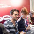 """Exclusif - Olivier Dion (D'Artagnan) - Showcase de la comédie musicale """"les 3 mousquetaires"""" à la FNAC des Ternes à Paris le 19 octobre 2016. © Cyril Moreau / Bestimage"""