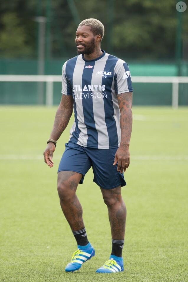 Djibril Cissé lors du tournoi de football Media Cup organisé à Meudon, le 2 juillet 2016.