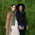 Jenna Lyons et Sarah Jones - Finale du 2016 CFDA/Vogue Fashion Fund aux Spring Studios. New York, le 7 novembre 2016.
