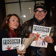 Karl Zéro et sa femme Daisy d'Errata à la soirée de remise des prix du guide Fooding 2017 à la Cathédrale Américaine de Paris le 7 novembre 2016.