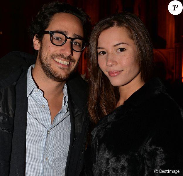 Thomas Hollande et sa compagne Emilie Broussouloux à la soirée de remise des prix du guide Fooding 2017 à la Cathédrale Américaine de Paris le 7 novembre 2016.