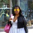 Exclusif - Blac Chyna enceinte à la sortie d'un centre médicale accompagnée d'une amie à Beverly Hills, le 28 octobre 2016
