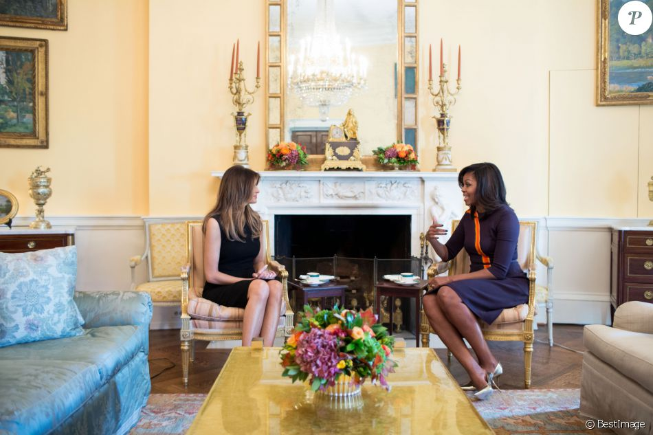 Melania trump et michelle obama : la rencontre des first ladies que