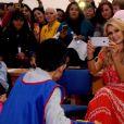 Paris Hilton rend visite aux enfants d'un hôpital à Mexico le 10 novembre 2016