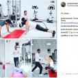 Justin Gey en pleine séance de sport avec... Tiffany, la femme de Thomas ? Photo de son compte Instagram, partagée en octobre 2016