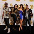 will.i.am, Taboo, Fergie et apl.de.ap des Black Eyed Peas lors de la 52e cérémonie des GRAMMY Awards le 31 janvier 2010