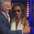 """Fabienne et David Ginola dans """"Incroyable Talent"""" sur M6, le 22 novembre 2016."""