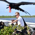 Le prince Harry visite une réserve d'oiseaux à Barbuda lors de son voyage officielle dans les Caraïbes le 22 novembre 2016.  Prince Harry visiting the Frigate Bird Sanctuary in Barbuda during his tour of the Caribbean. 22 November 2016.22/11/2016 -