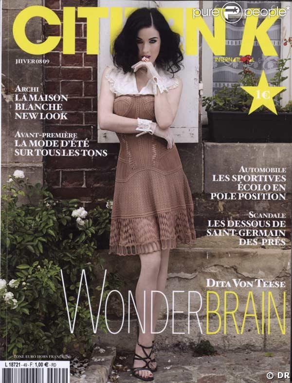 Dita Von Teese en couverture de Citizen K